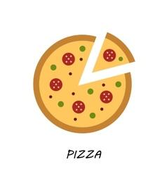 Pizza icon Minimal design Tasty pizza slices vector image vector image