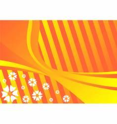 spring orange background vector image vector image