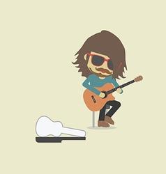 118street guitarist2 vector image