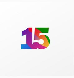 15 years anniversary celebration elegant color vector