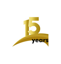 15 years anniversary celebration template design vector