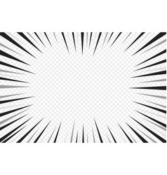 Abstract comic book flash explosion radial lines vector