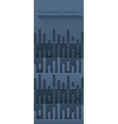 Abstract pattern with drops vector image