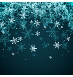 Abstract winter background from snowflakes vector