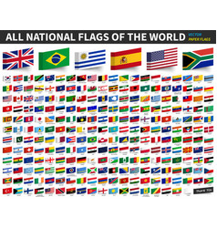 All national flags of the world adhesive paper vector