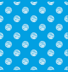 big planet pattern seamless blue vector image