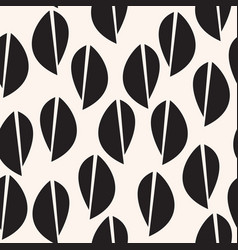 Black leaves abstract pattern graphic seamless vector