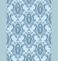 Blue pattern with damask vector
