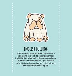Bulldog banner 2 vector