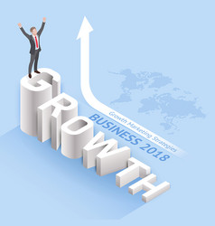 business growth marketing strategies concepts vector image