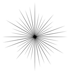 Circular radial radiating lines element abstract vector