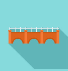 city bridge icon flat style vector image