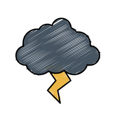 Cloud with thunder icon vector