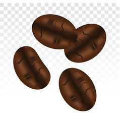 Coffee beans or seeds flat icon vector