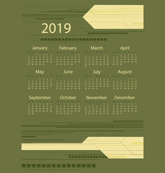 colorful calendar design vector image