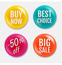colorful sale badge isolated transparent vector image