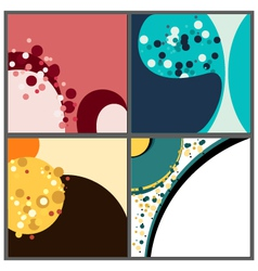 Colorfull square background vector image