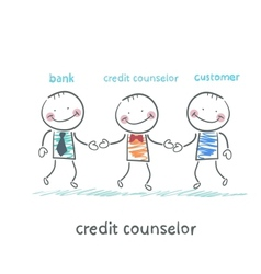 Credit counselor is between the bank and the vector