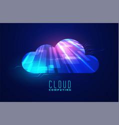 digital cloud computing technology background vector image