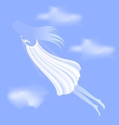 dream of girl vector image