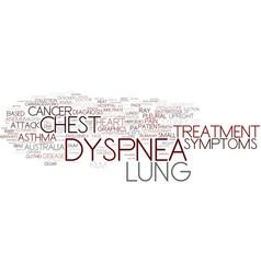dyspnea word cloud concept vector image