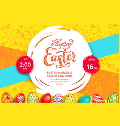easter bright background vector image