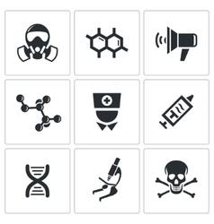 Epidemic icons set vector image