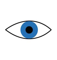 eye look vision optic surveillance concept vector image