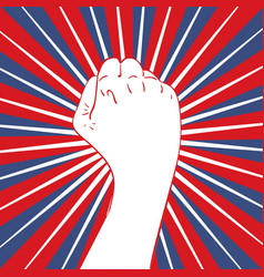 fist raised up banner vector image