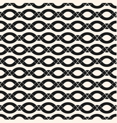 Geometric seamless pattern with smooth wavy vector