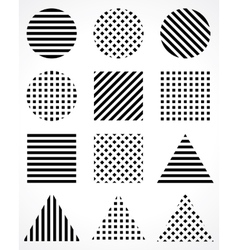 Geometric shapes abstract symbols vector
