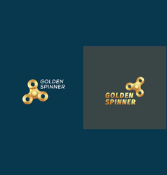 golden fidget spinners abstract sign vector image
