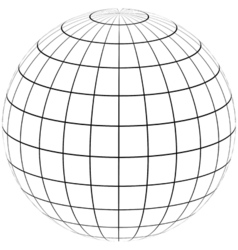 graticule globe Meridian and parallel vector image