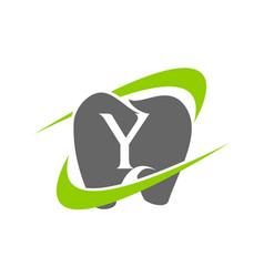 healthy dental care letter y vector image