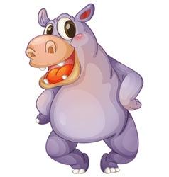 hip hippo vector image vector image