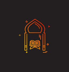 Holy quran icon design vector