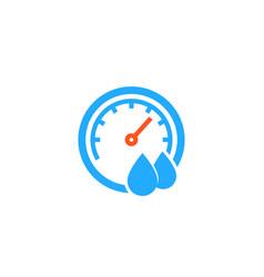 hygrometer icon on white vector image