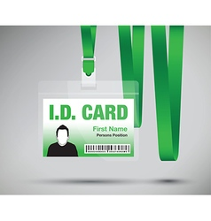Id card man green vector