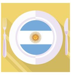 Kitchen of Argentine vector