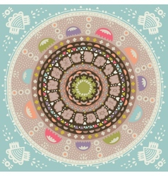 Mandala Round ethnic ornament vector