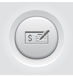 Money Check Business Icon vector
