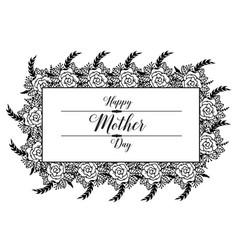 Mother day gretting design flower vector