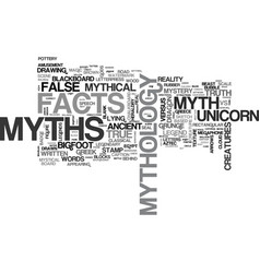 Myths word cloud concept vector