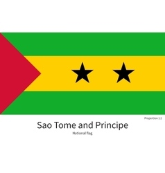 National flag of Sao Tome and Principe with vector image