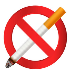 no smoking cigarette icon realistic style vector image
