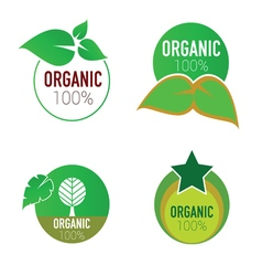 organic icon green circle vector image