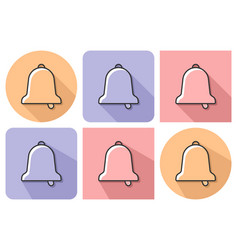 outlined icon bell with parallel and not vector image