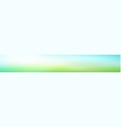 Panoramic abstract green blurred gradient vector
