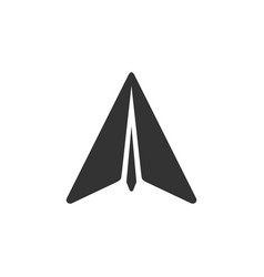 paper airplane glyph icon or plane symbol vector image