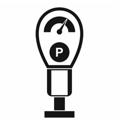 Parking meters icon simple style vector